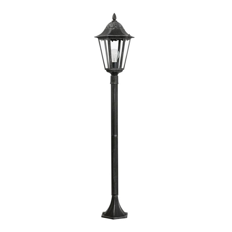 Eglo-93463 - Navedo - Outdoor Black with Clear Glass Medium Post