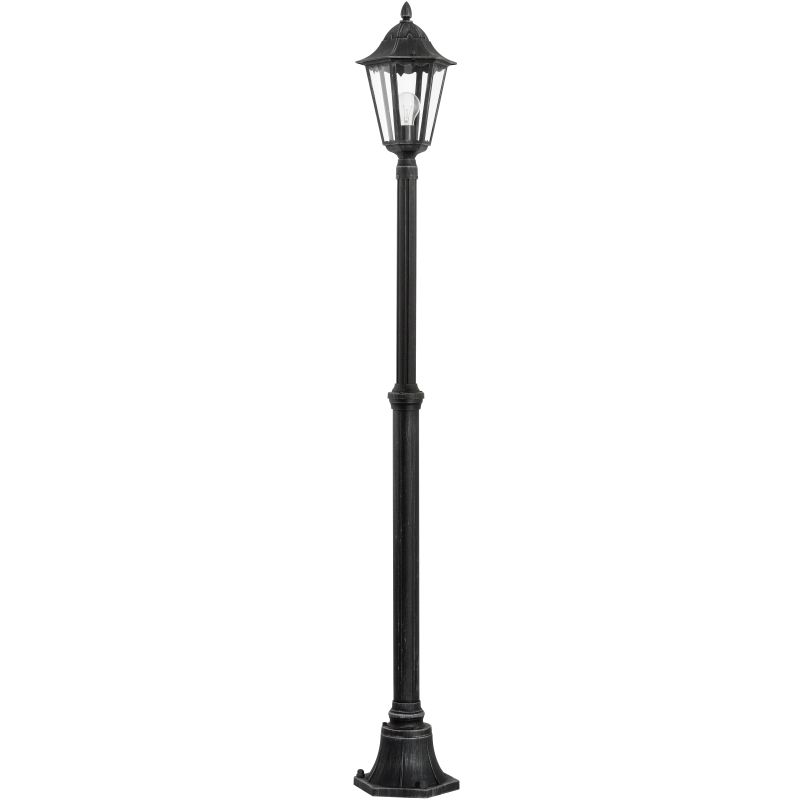 Eglo-93464 - Navedo - Outdoor Black with Clear Glass Big Post