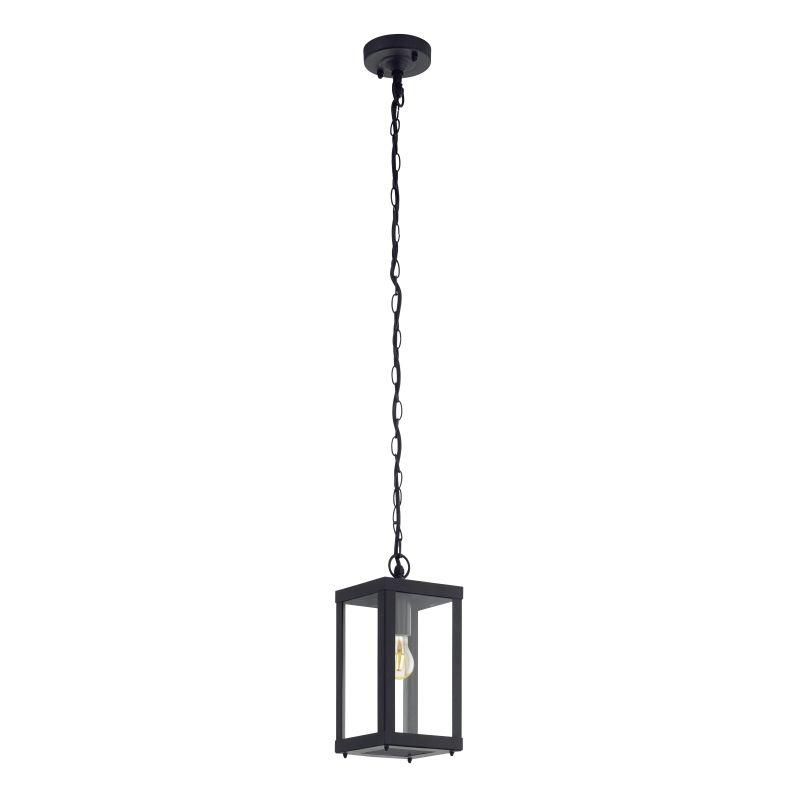 Eglo-94788 - Alamonte 1 - Outdoor Black Lantern Pendant