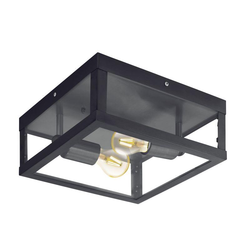 Eglo-94832 - Alamonte 1 - Outdoor Black Lantern 2 Light Ceiling Lamp
