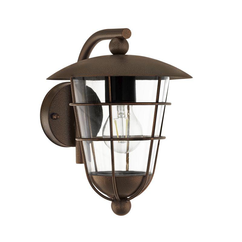 Eglo-94855 - Pulfero 1 - Outdoor Brown & Clear Downlight Wall Lamp