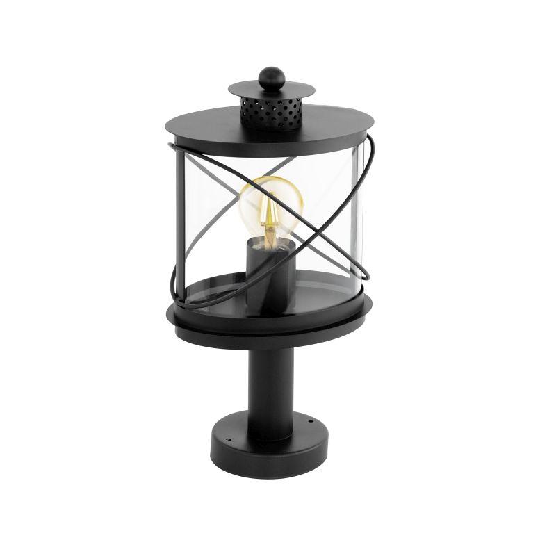 Eglo-94864 - Hilburn - Outdoor Black & Clear Small Post