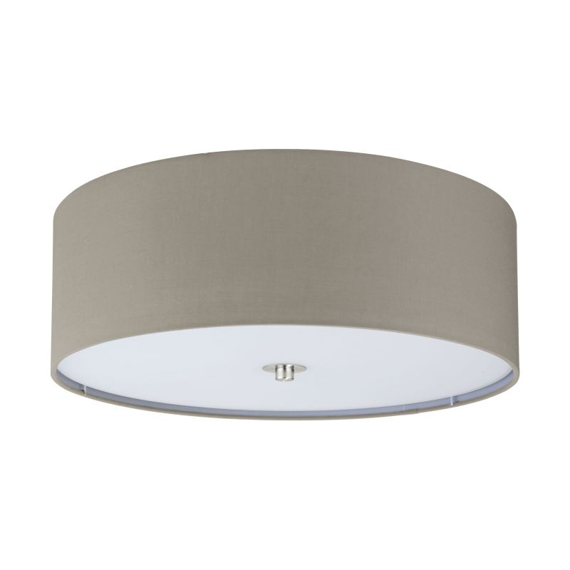 Eglo-94919 - Pasteri - Taupe with Glass Diffuser Ceiling Lamp