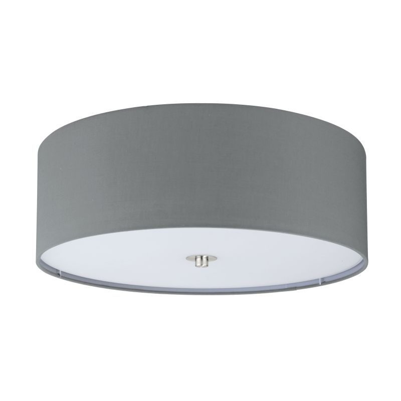 Eglo-94921 - Pasteri - Grey with Glass Diffuser Ceiling Lamp