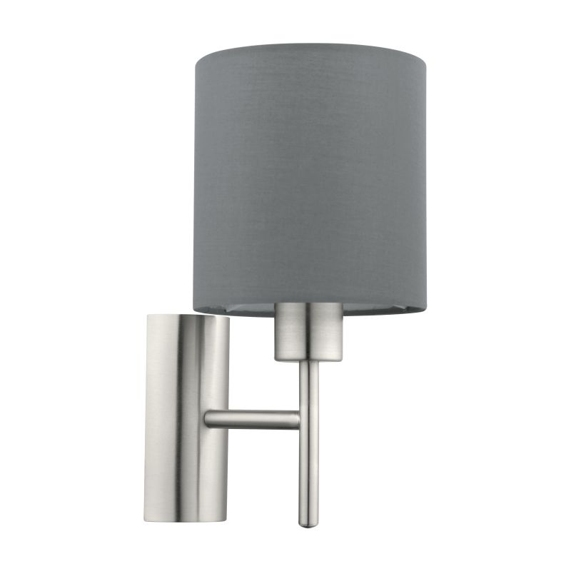 Eglo-94926 - Pasteri - Grey & White with Nickel Wall Lamp
