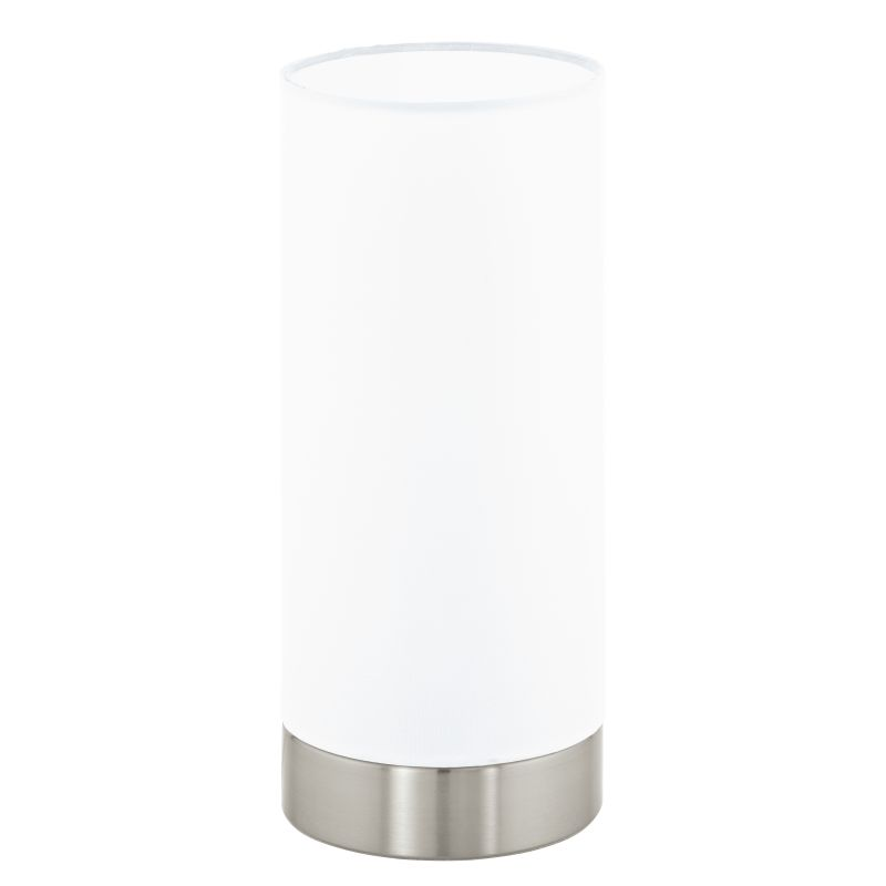 Eglo-95118 - Pasteri - White with Satin Nickel Touch Table Lamp