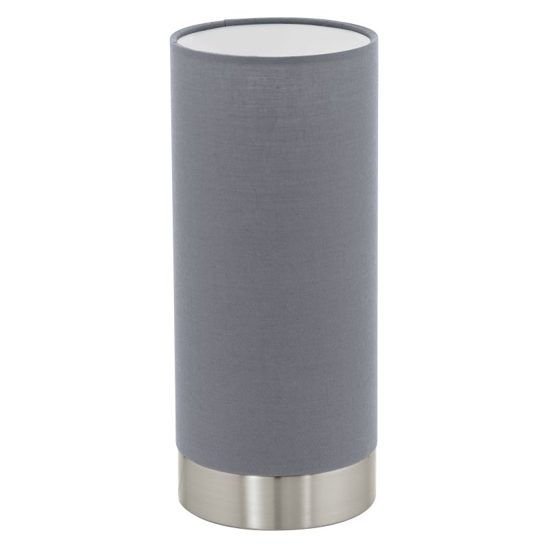 Eglo-95119 - Pasteri - Grey with Nickel Touch Table Lamp