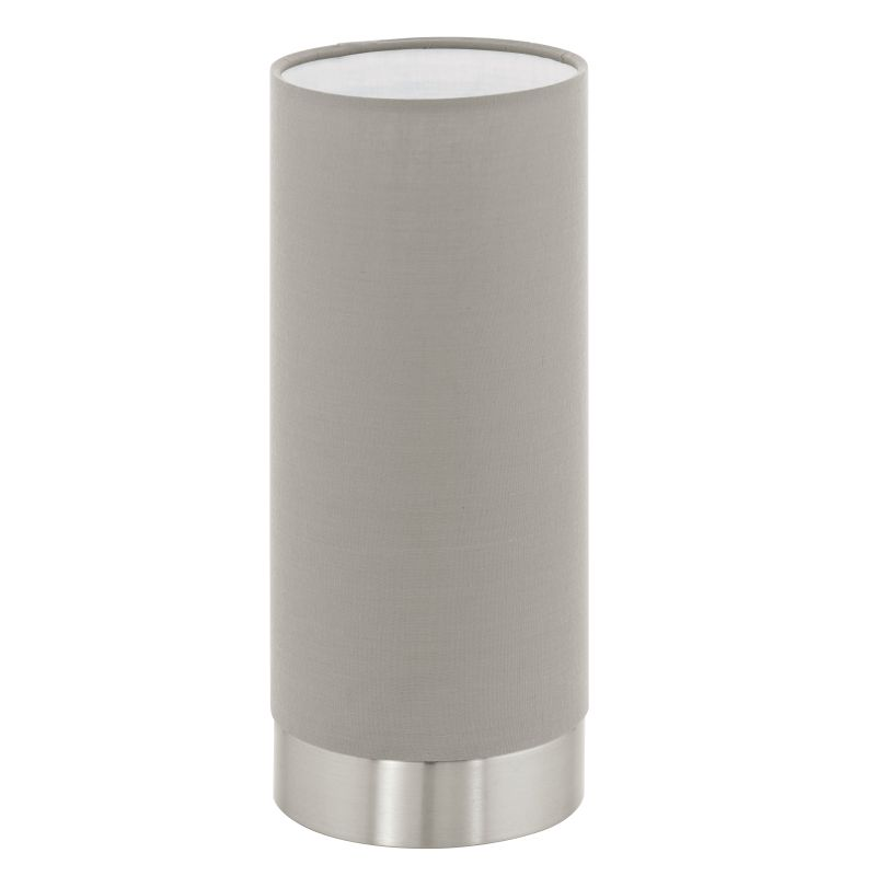 Eglo-95122 - Pasteri - Taupe with Nickel Touch Table Lamp
