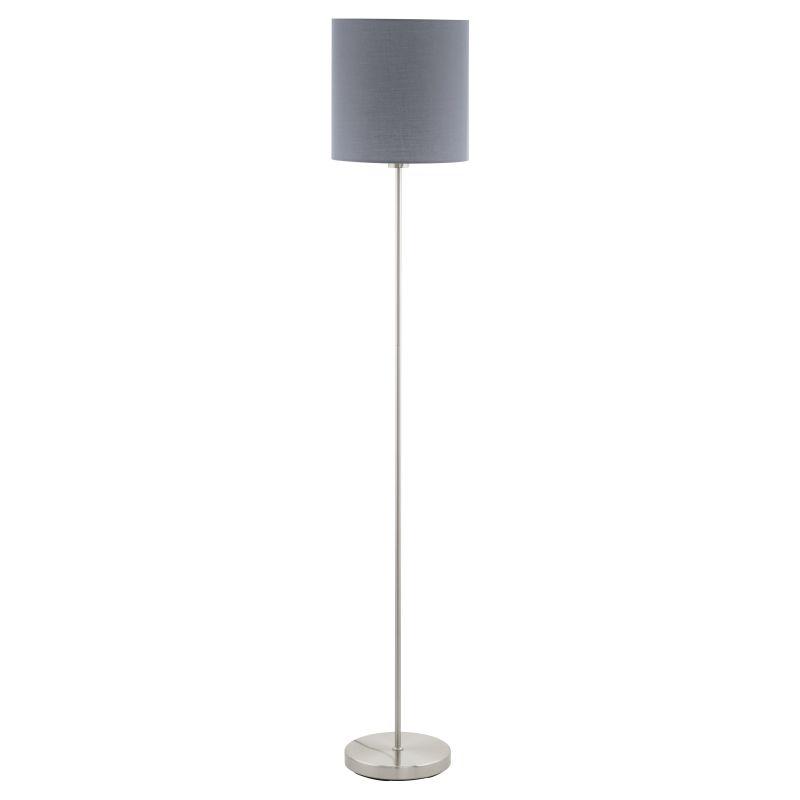 Eglo-95166 - Pasteri - Grey & White with Nickel Floor Lamp
