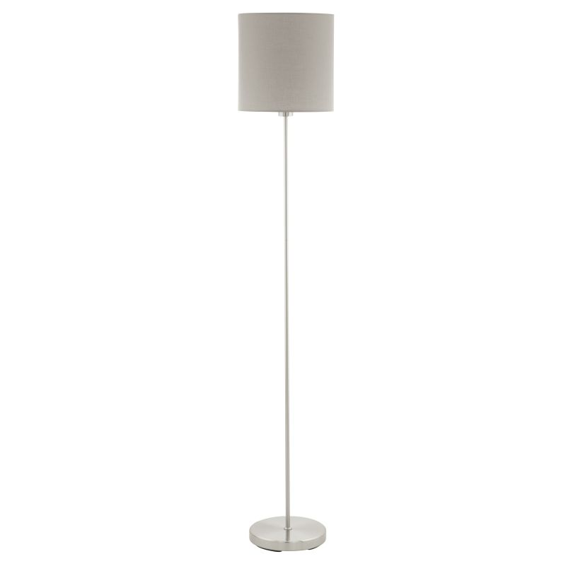 Eglo-95167 - Pasteri - Taupe & White with Nickel Floor Lamp