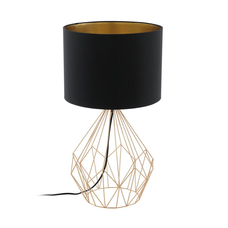 Eglo-95185 - Pedregal 1 - Black with Copper Big Cage Table Lamp