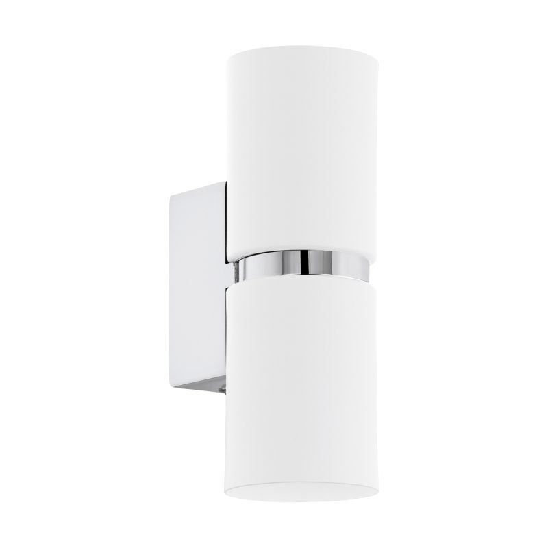 Eglo-95368 - Passa - White and Chrome Round Up&Down Wall Lamp