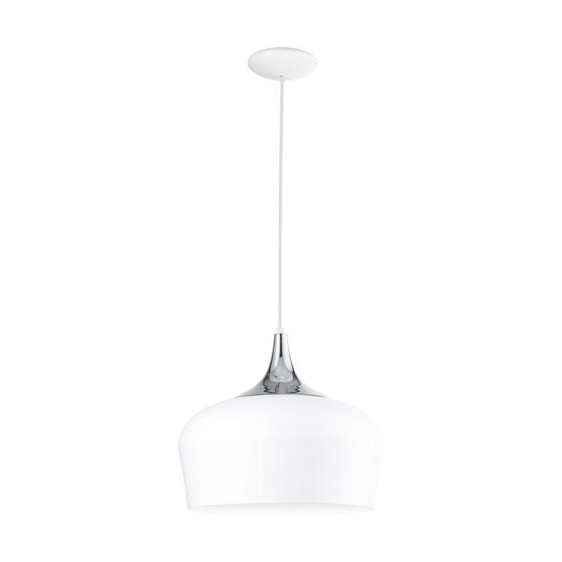 Eglo-95384 - Obregon - White with Polished Chrome Pendant