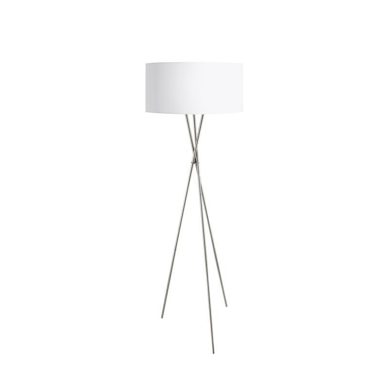 Eglo-95539 - Fondachelli - White & Silver with Satin Nickel Tripod Floor Lamp