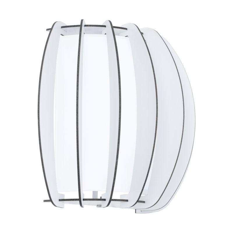 Eglo-95609 - Stellato 2 - White Wood and Glass Wall Lamp