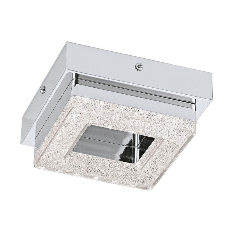 Eglo-95655 - Fradelo - LED Crystal with Chrome Square Flush
