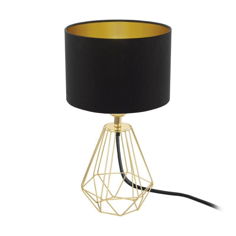 Eglo-95788 - Carlton 2 - Black with Gold Small Cage Table Lamp