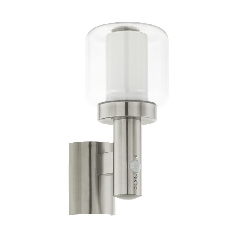 Eglo-95017 - Poliento - Outdoor Stainless Steel with Diffuser Sensor Wall Lamp