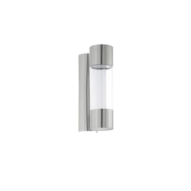 Eglo-96013 - Robledo - Outdoor LED Silver Tube Wall Lamp