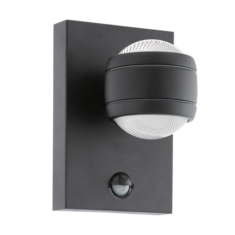 Eglo-96021 - Sesimba 1 - Outdoor LED Black Up&Down Sensor Wall Lamp