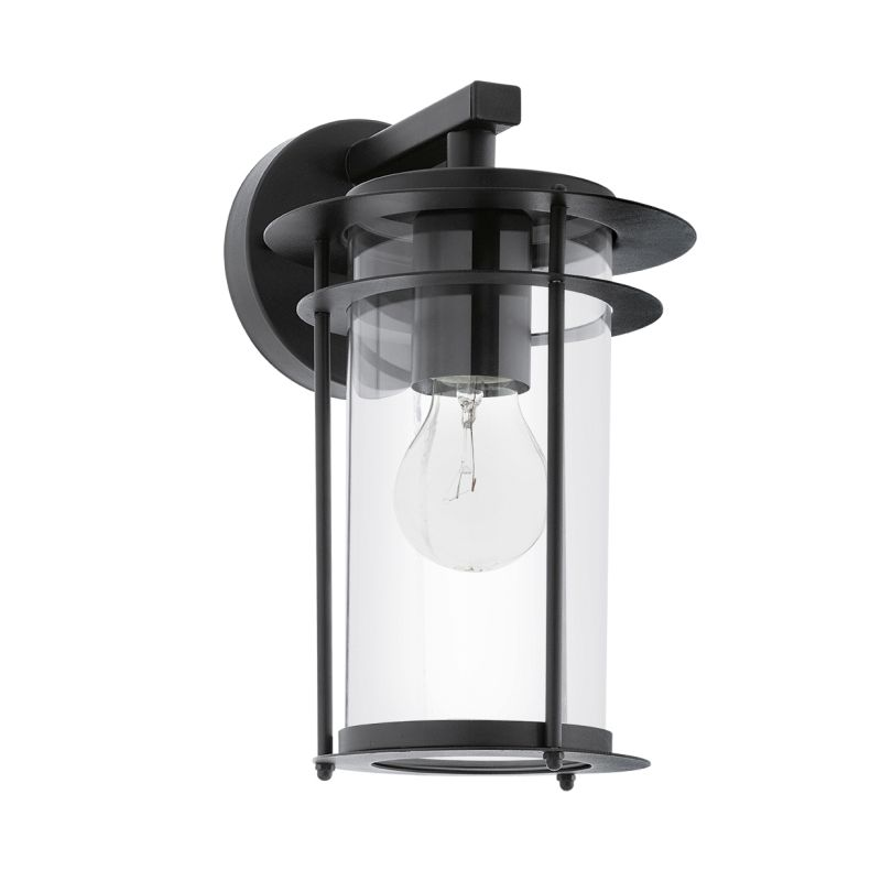 Eglo-96239 - Valdeo - Black with Clear Glass Downlight Wall Lamp