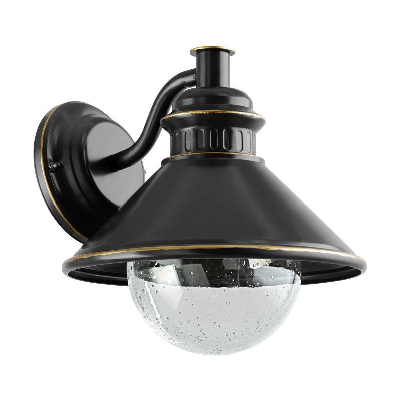 Eglo-96262 - Albacete - Brown & Copper with Decorative Glass Wall Lamp
