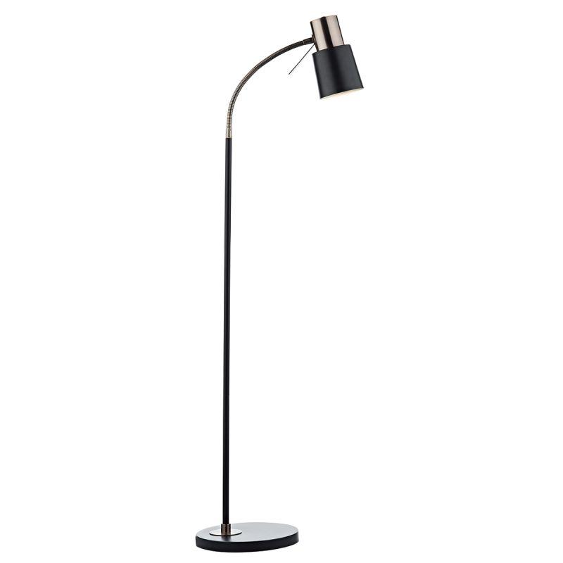 Dar-BON4954 - Bond - Matt Black & Copper Floor Lamp