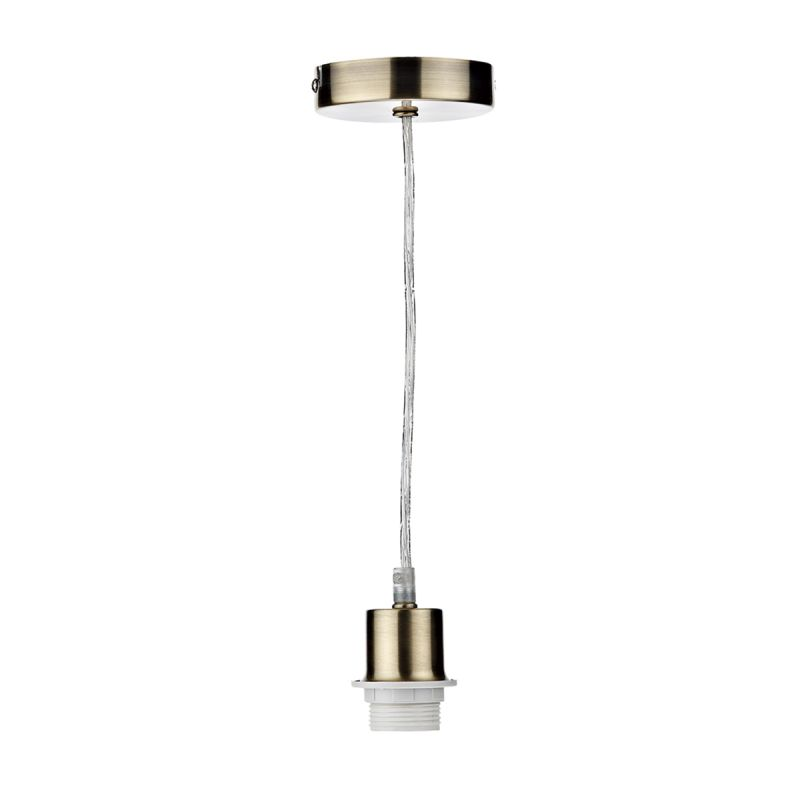 Dar-SP67 - Cord Set - Antique Brass E27 Suspension