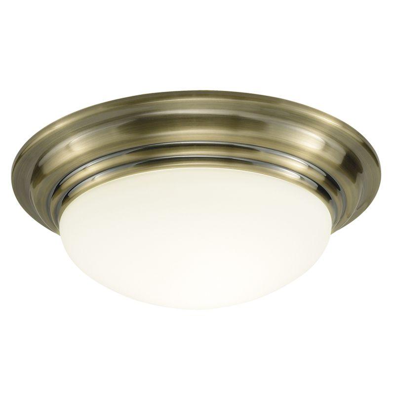 Dar-BAR5075 - Barclay - Big Bathroom Antique Brass Ceiling Lamp