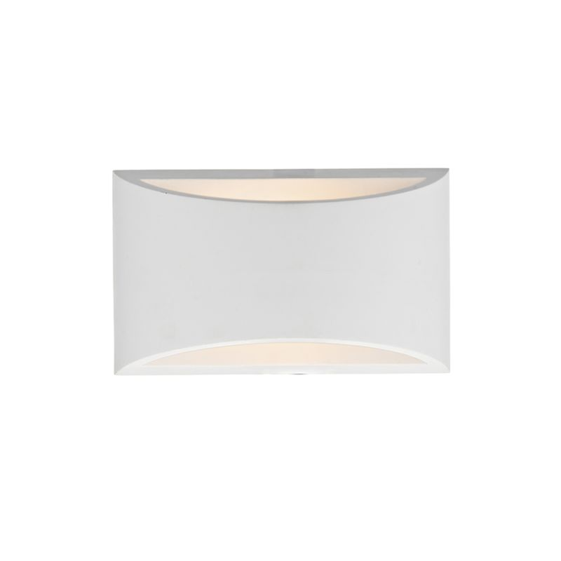 Dar-HOV072 - Hove - Washer White Ceramic Up&Down Wall Lights