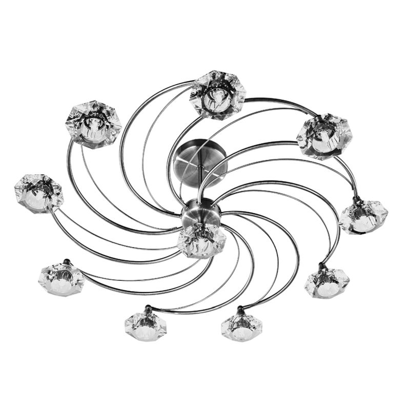 Dar-LUT2375 - Luther - Decorative Antique Brass with Crystal 10 Light Centre Fitting