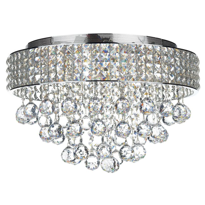Dar-MAT5450 - Matrix - Crystal with Chrome 5 Light Ceiling Lamp