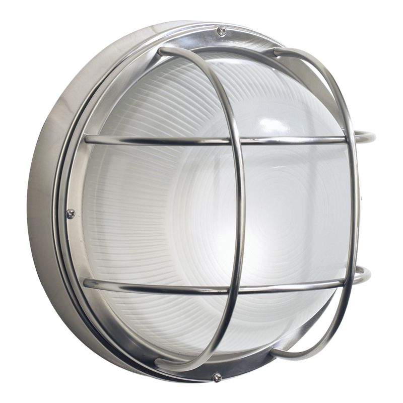 Dar-SAL5044 - Salcombe - Outdoor Stainless Steel with Glass Wall Lamp