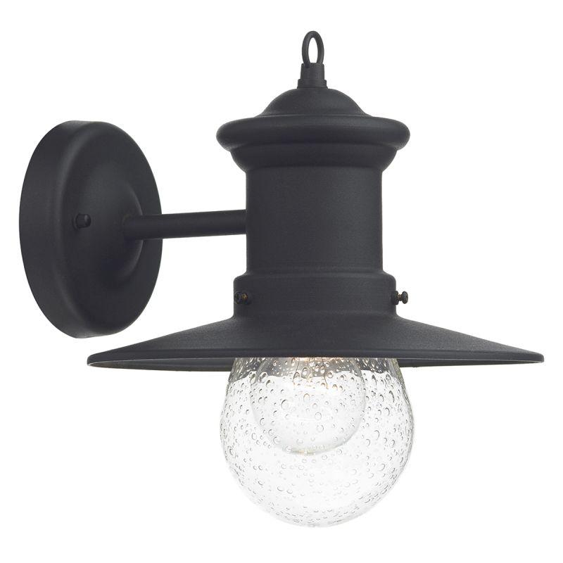 Dar-SED1522 - Sedgewick - Outdoor Black Lantern Wall Lamp