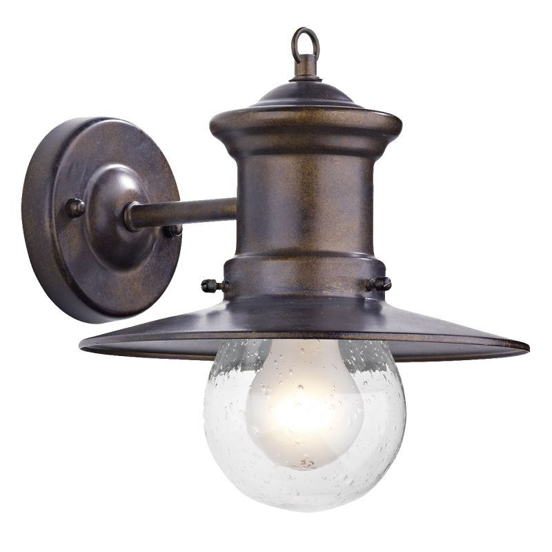 Dar-SED1529 - Sedgewick - Outdoor Bronze Lantern Wall Lamp