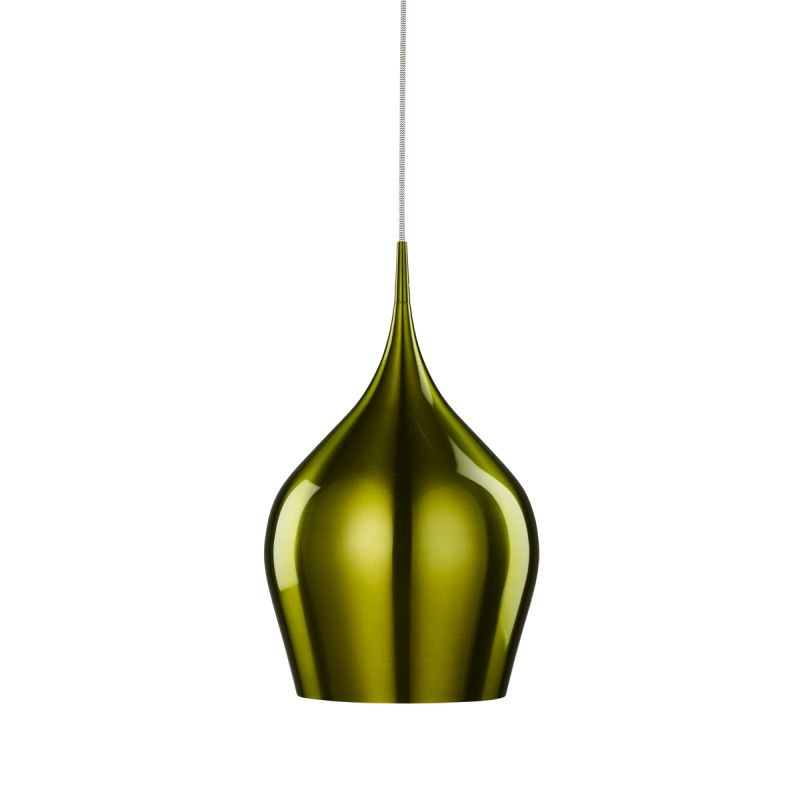 Searchlight-6461-26GR - Vibrant - Large Green Metal Bell Single Hanging Pendant