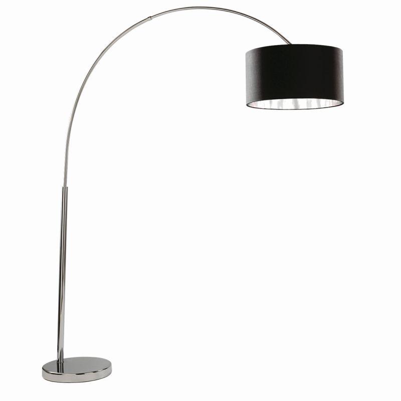 Searchlight-1013CC - Arcs - Black & Silver Shade with Chrome Floor Lamp