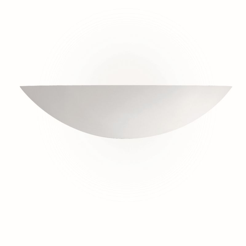 Searchlight-102 - Wall - White Ceramic Uplighter Paintable Wall Lamp