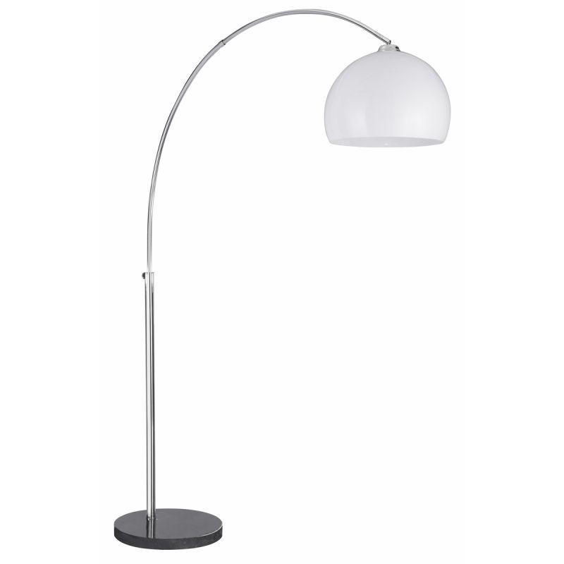 Searchlight-1037CC - Arcs - White Shade and Chrome & Black Floor Lamp