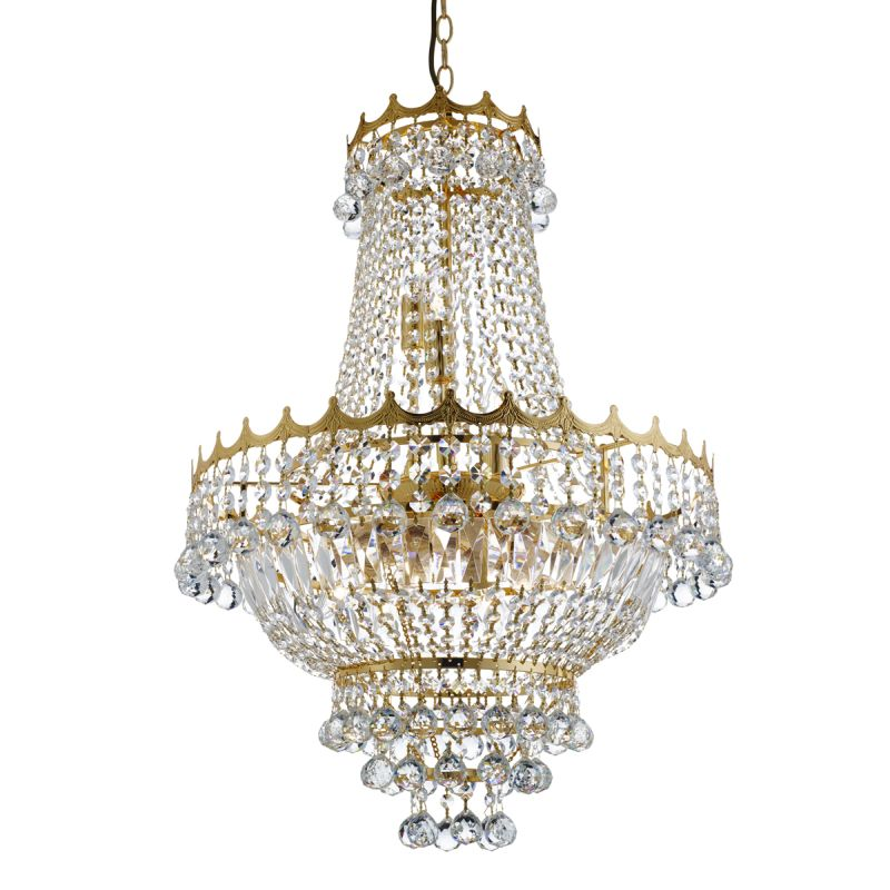 Searchlight-9112-52GO - Versailles - Traditional Crystal with Gold 9 Light Chandelier