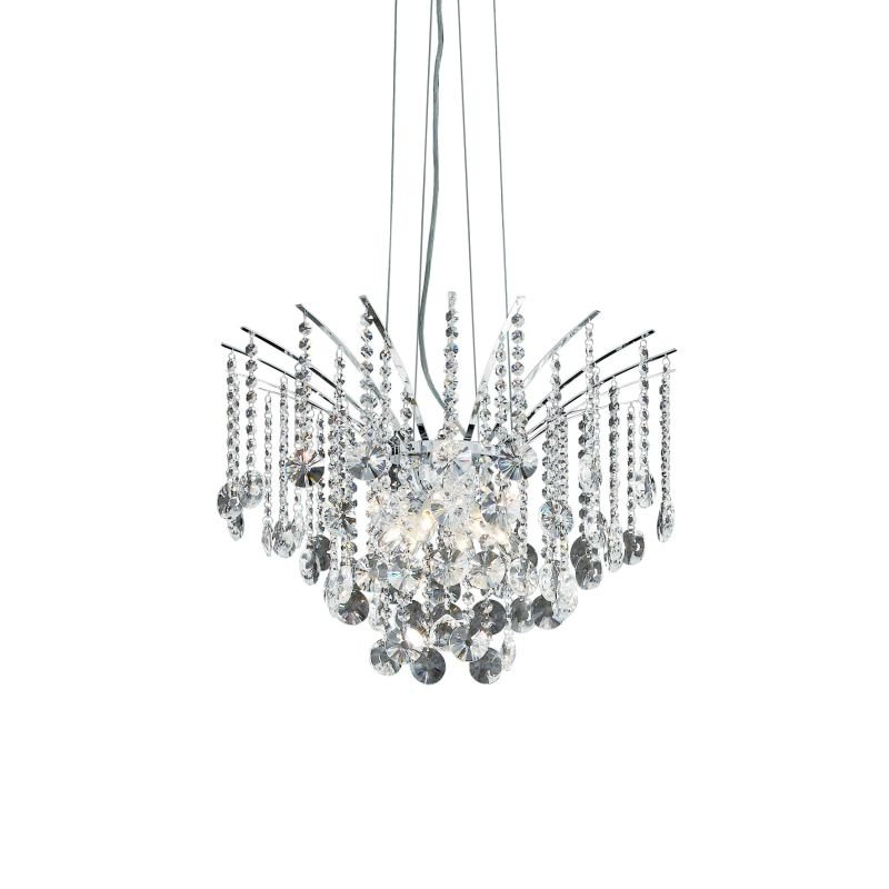 IdealLux-019499 - Audi-77 - Crystal with Chrome 6 Light Hanging Pendant