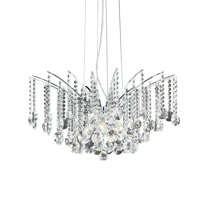 IdealLux-020556 - Audi-77 - Crystal with Chrome 8 Light Hanging Pendant