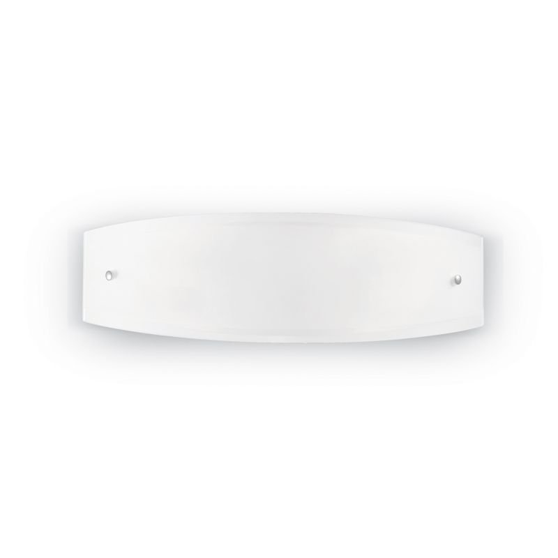 IdealLux-026558 - Ali - Small White Glass 2 Light Wall Lamp