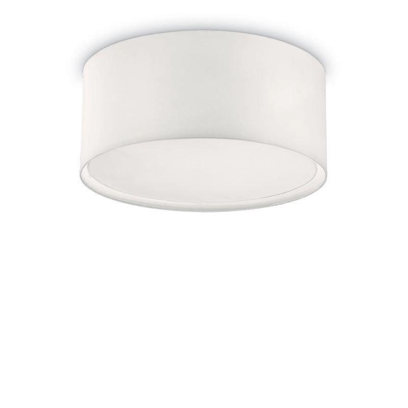 IdealLux-036021 - Wheel - White Fabric Round 5 Light Ceiling Lamp