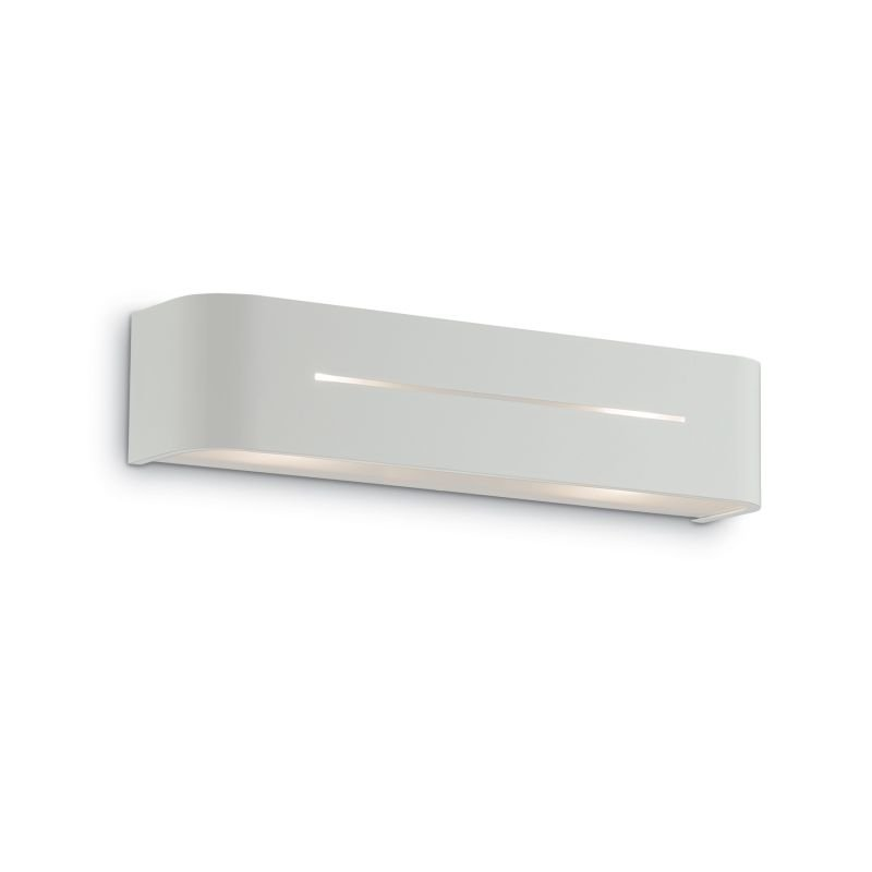 IdealLux-051963 - Posta - Small White with Frosted Glass Wall Lamp
