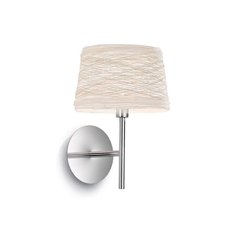 IdealLux-082493 - Basket - Cream Fireproof Twine Wall Lamp
