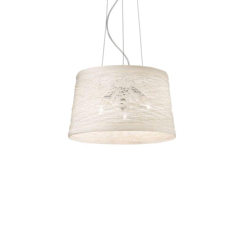 IdealLux-082509 - Basket - Cream Fireproof Twine 3 Light Hanging Pendant