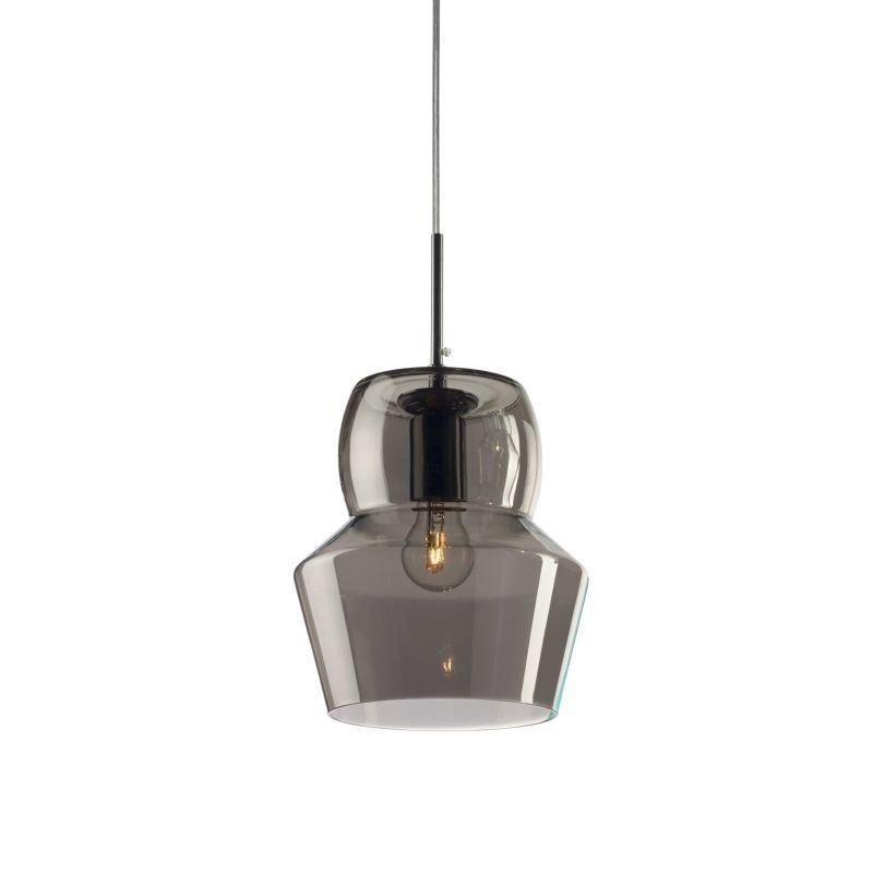 IdealLux-088938 - Zeno - Big Smoky Glass Single Hanging Pendant