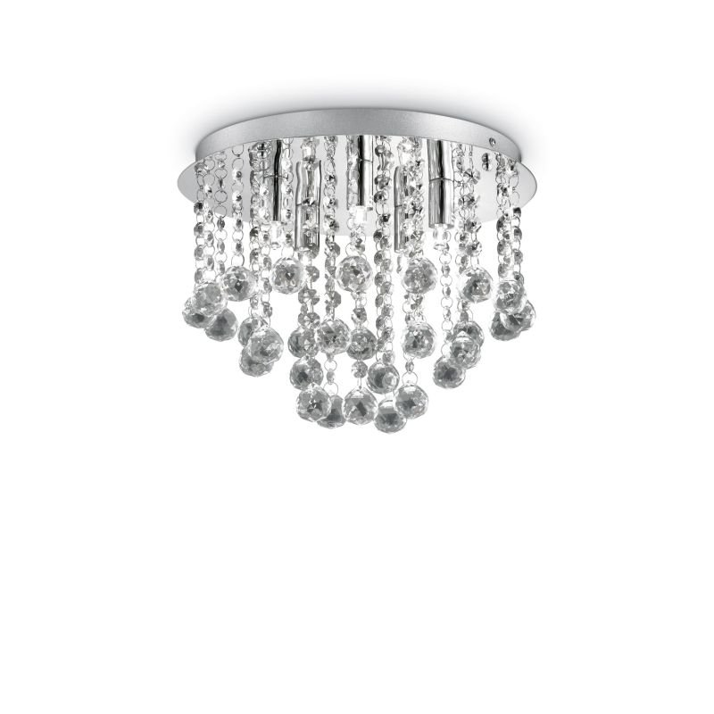 IdealLux-089485 - Bijoux - Crystal with Chrome 5 Light Ceiling Lamp