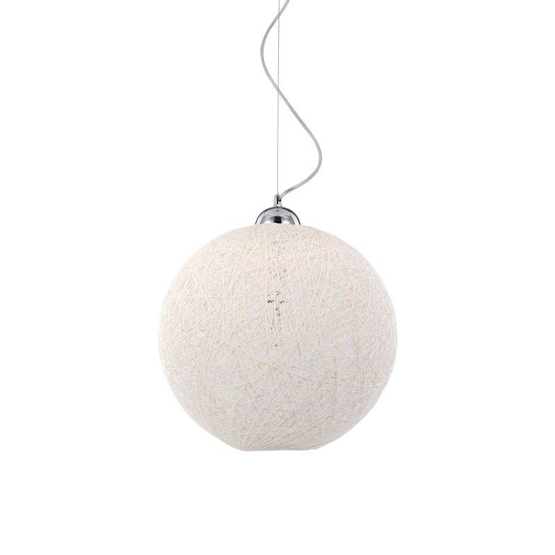 IdealLux-096100 - Basket - Cream Fireproof Twine Single Hanging Pendant -Ø 30